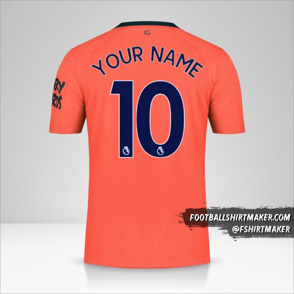 Everton FC 2019/20 II jersey number 10 your name