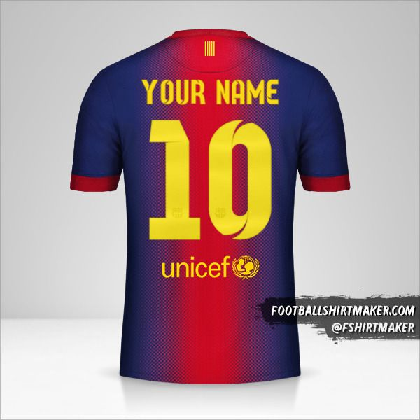 FC Barcelona 2012/13 jersey number 10 your name