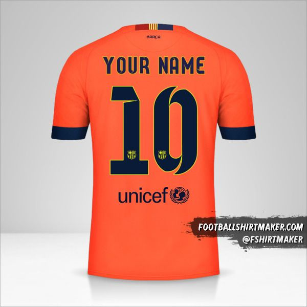 FC Barcelona 2014/15 II jersey number 10 your name