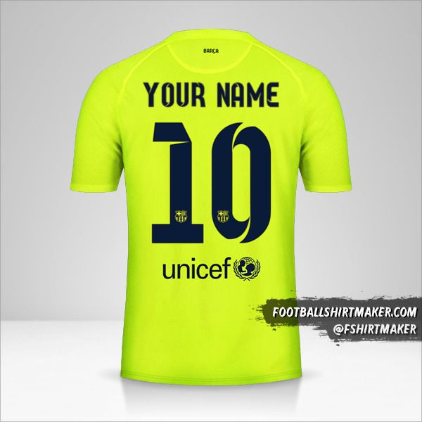 FC Barcelona 2014/15 III jersey number 10 your name