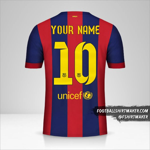 FC Barcelona 2014/15 jersey number 10 your name