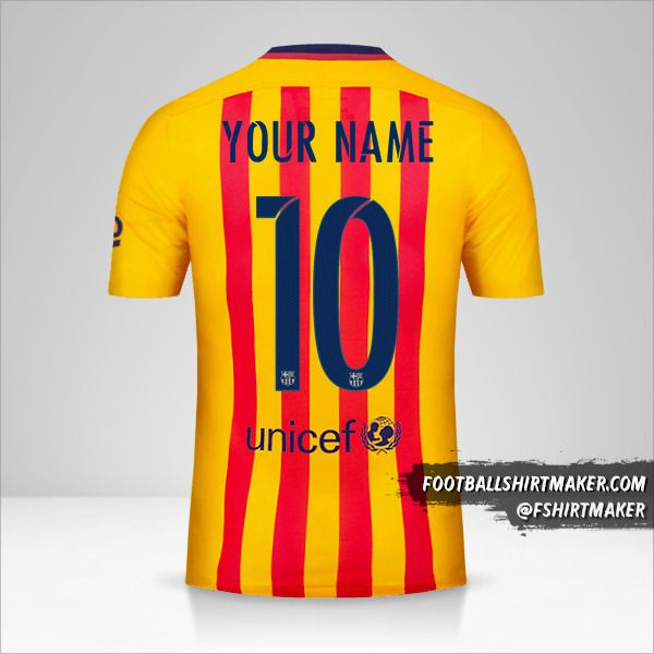 FC Barcelona 2015/16 II jersey number 10 your name