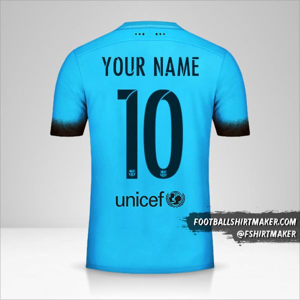 FC Barcelona 2015/16 III jersey number 10 your name