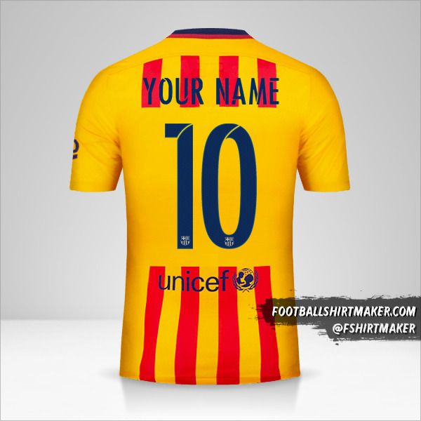 FC Barcelona 2015/16 Cup II jersey number 10 your name