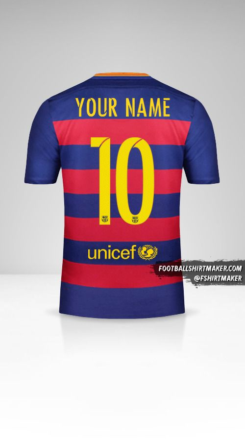 FC Barcelona 2015/16 jersey number 10 your name