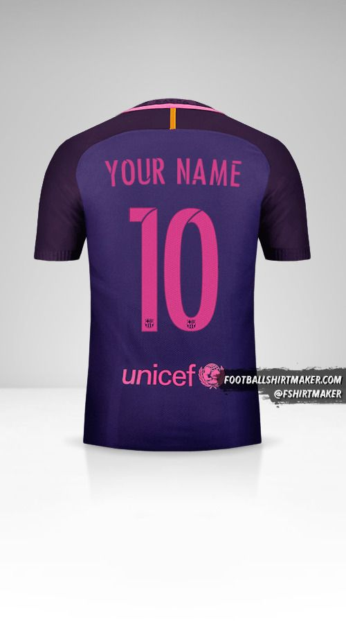 FC Barcelona 2016/17 II jersey number 10 your name
