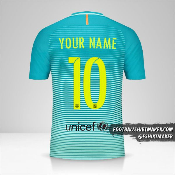 FC Barcelona 2016/17 III jersey number 10 your name