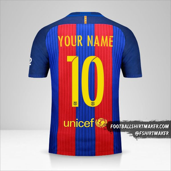 FC Barcelona 2016/17 jersey number 10 your name