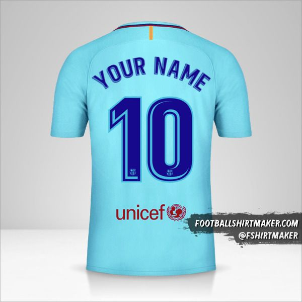 FC Barcelona 2017/18 II jersey number 10 your name