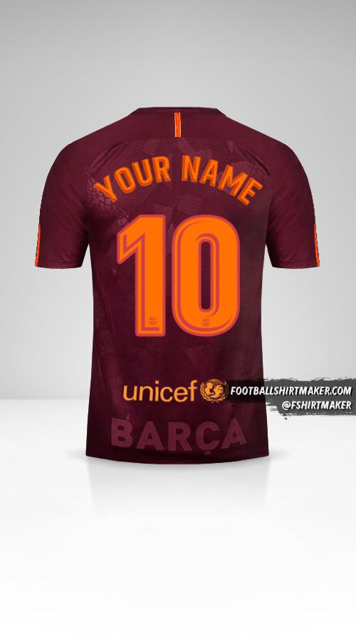 FC Barcelona 2017/18 III jersey number 10 your name