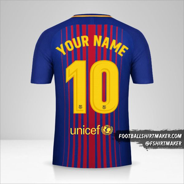 FC Barcelona 2017/18 jersey number 10 your name