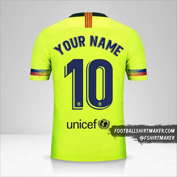 FC Barcelona 2018/19 II jersey number 10 your name