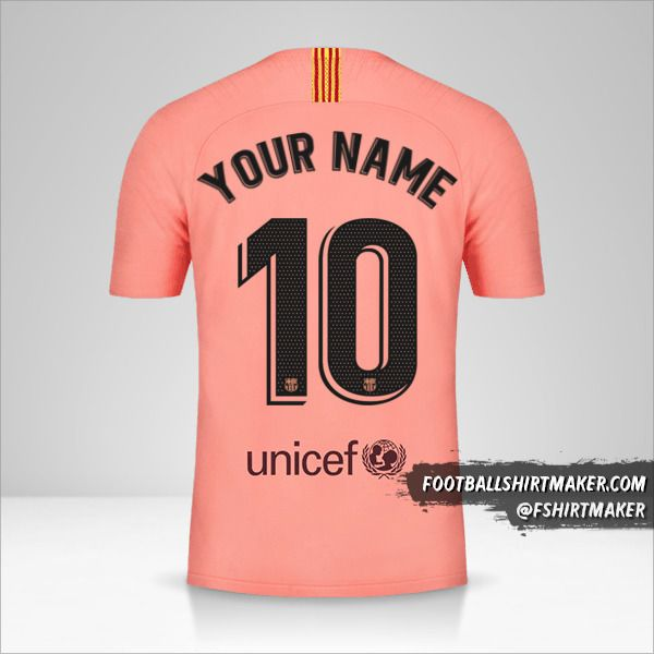 FC Barcelona 2018/19 III jersey number 10 your name