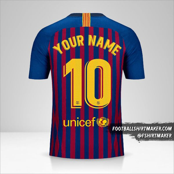 FC Barcelona 2018/19 jersey number 10 your name