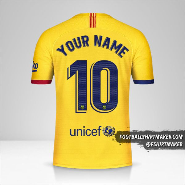 FC Barcelona 2019/20 II jersey number 10 your name