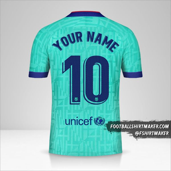 FC Barcelona 2019/20 III jersey number 10 your name