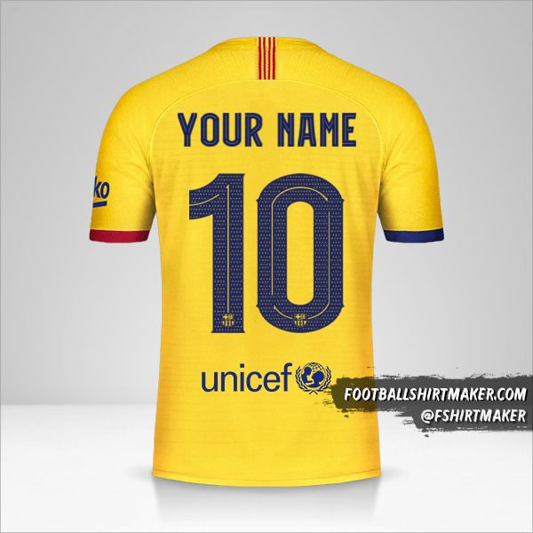 FC Barcelona 2019/20 Cup II jersey number 10 your name