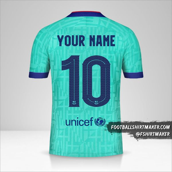 FC Barcelona 2019/20 Cup III jersey number 10 your name