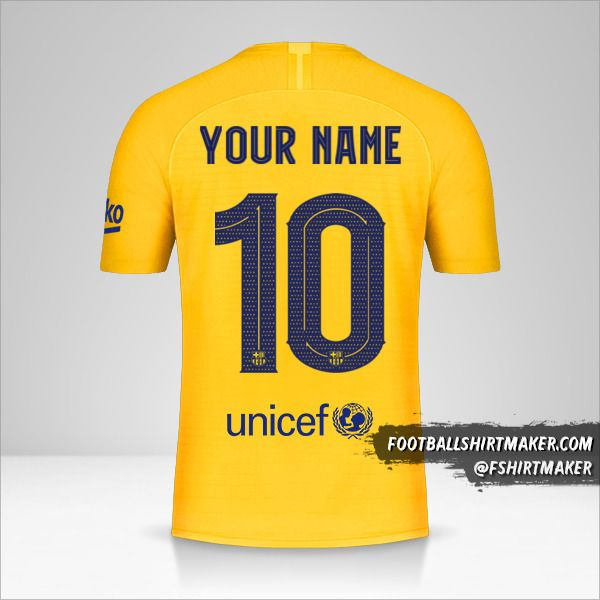 FC Barcelona 2019/20 Senyera Cup jersey number 10 your name