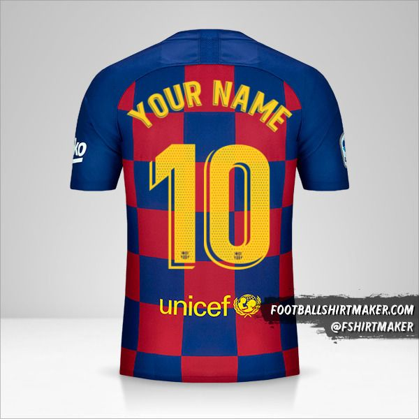 FC Barcelona jersey 2019/20 number 10 your name