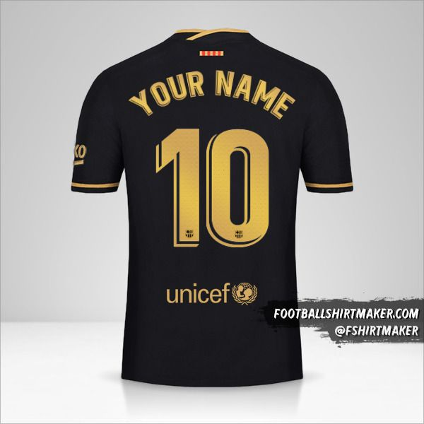 FC Barcelona 2020/21 II jersey number 10 your name