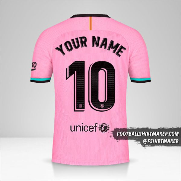 FC Barcelona 2020/21 III jersey number 10 your name