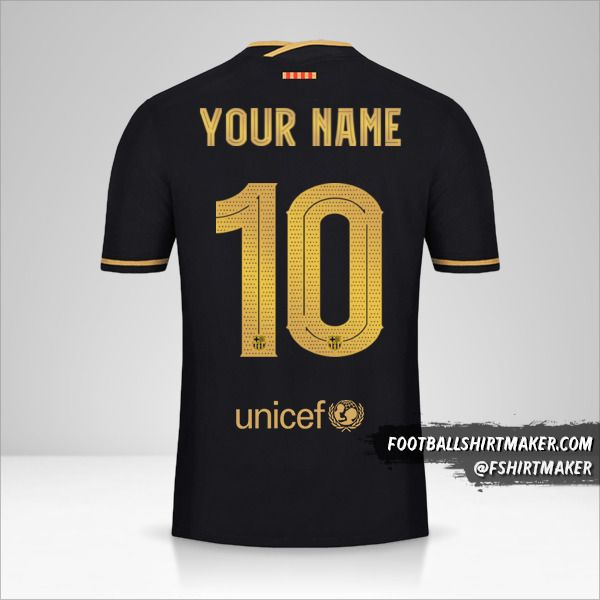 FC Barcelona 2020/21 Cup II jersey number 10 your name
