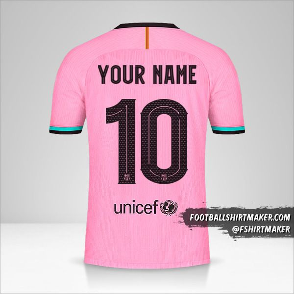 FC Barcelona 2020/21 Cup III jersey number 10 your name