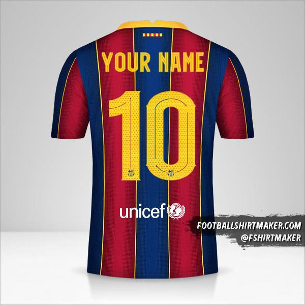 FC Barcelona 2020/21 Cup jersey number 10 your name