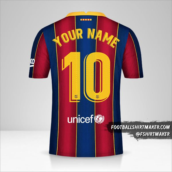 FC Barcelona 2020/21 jersey number 10 your name