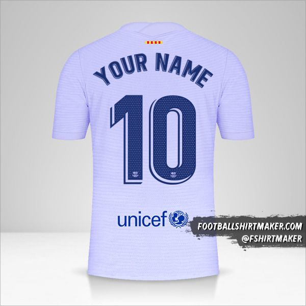 FC Barcelona 2021/2022 II jersey number 10 your name