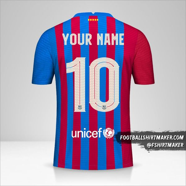 FC Barcelona 2021/2022 Cup jersey number 10 your name
