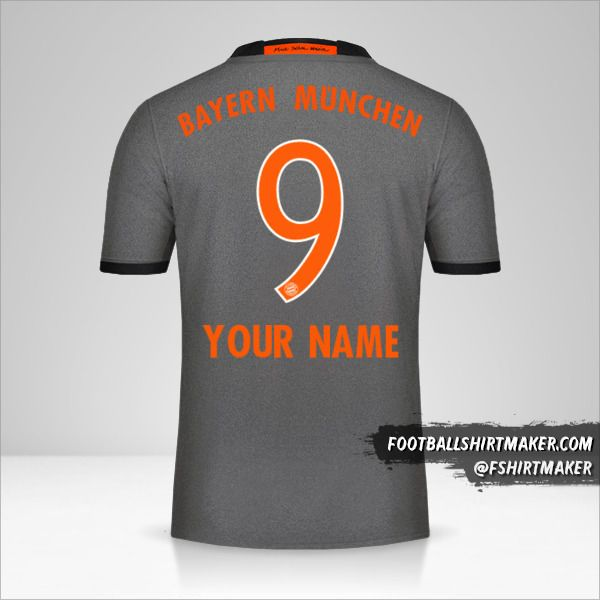 FC Bayern Munchen 2016/17 II jersey number 9 your name