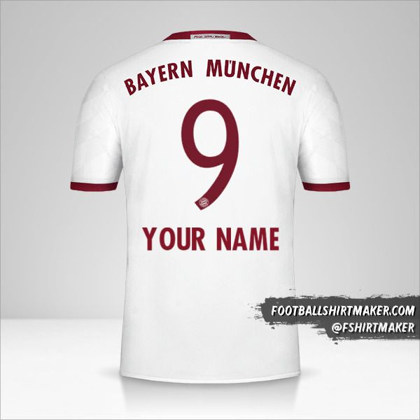 FC Bayern Munchen 2016/17 III jersey number 9 your name