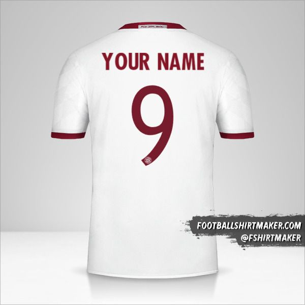 FC Bayern Munchen 2016/17 Cup III jersey number 9 your name