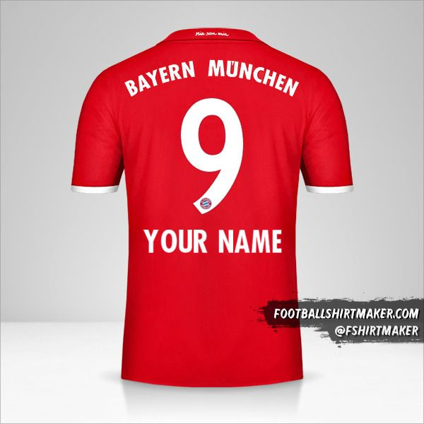 FC Bayern Munchen 2016/17 jersey number 9 your name