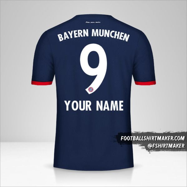 FC Bayern Munchen 2017/18 II jersey number 9 your name