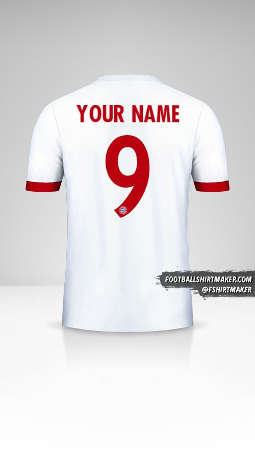 FC Bayern Munchen 2017/18 Cup III jersey number 9 your name