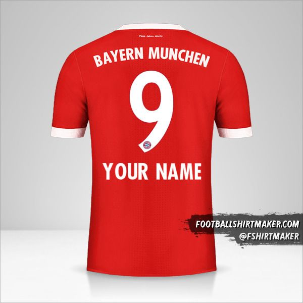 FC Bayern Munchen 2017/18 jersey number 9 your name