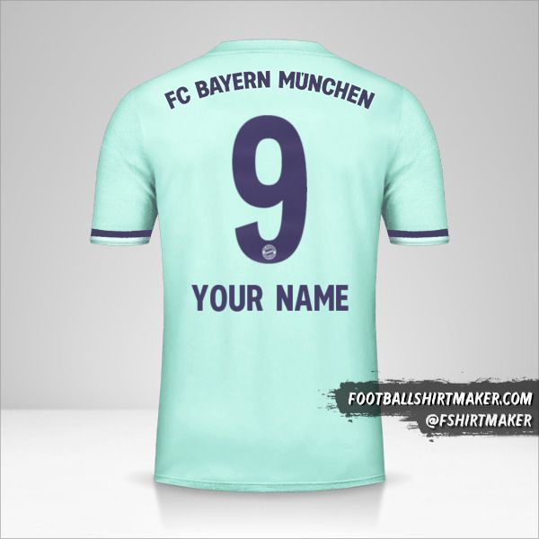 FC Bayern Munchen 2018/19 II jersey number 9 your name