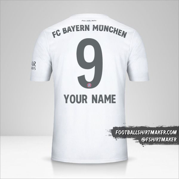 FC Bayern Munchen 2019/20 II jersey number 9 your name