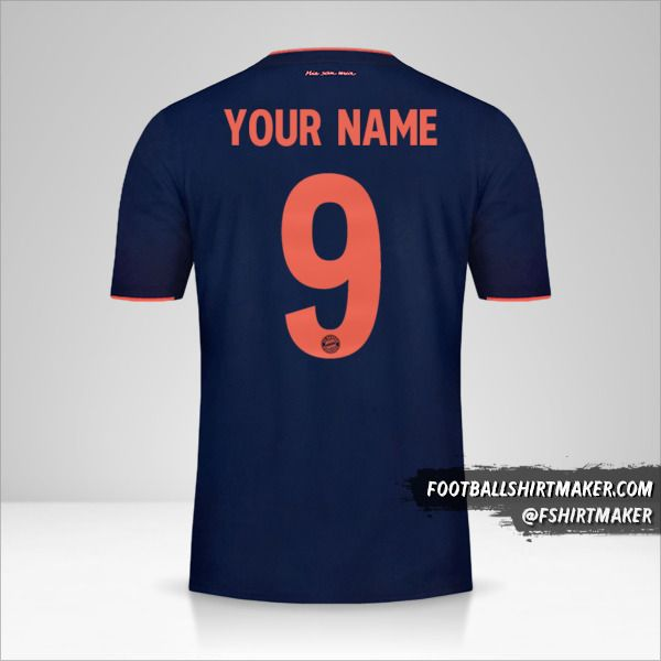 FC Bayern Munchen 2019/20 UCL jersey number 9 your name