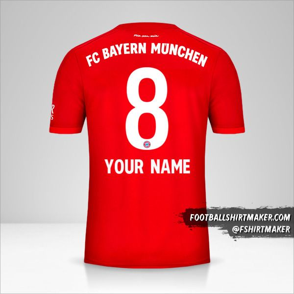 FC Bayern Munchen jersey 2019/20 number 8 your name