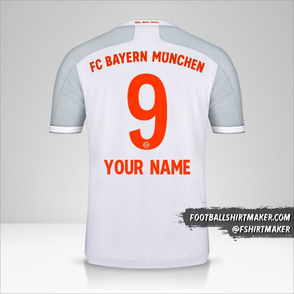 FC Bayern Munchen 2020/21 II jersey number 9 your name