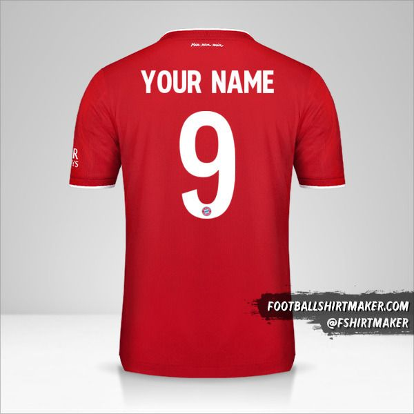 FC Bayern Munchen 2020/21 Cup jersey number 9 your name