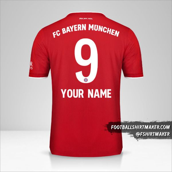 FC Bayern Munchen 2020/21 jersey number 9 your name