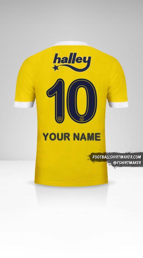 Fenerbahçe SK 2017/18 II jersey number 10 your name