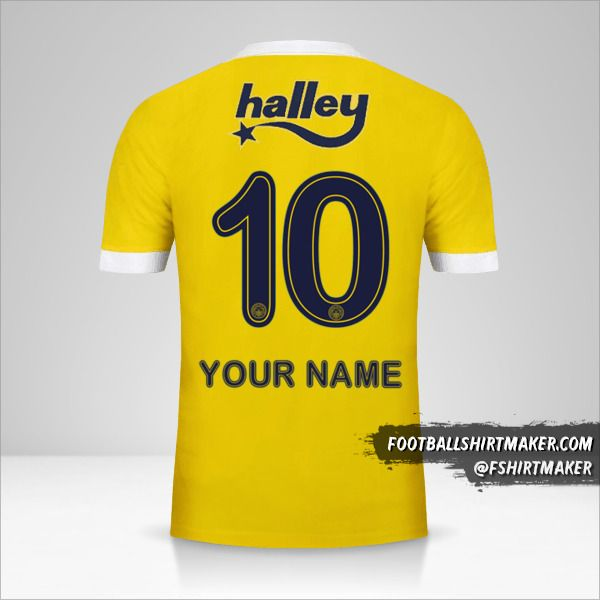 Fenerbahçe SK 2017/18 II jersey number 10 your name
