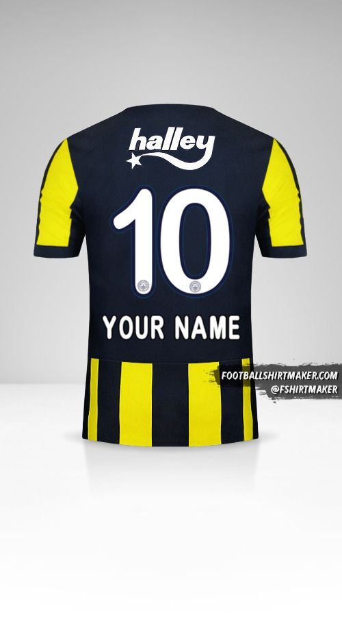 Fenerbahçe SK 2017/18 jersey number 10 your name