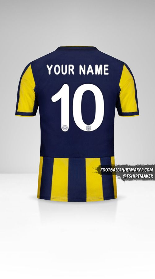 Fenerbahçe SK 2018/19 Cup jersey number 10 your name